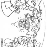 Alice in Wonderland coloringpages -