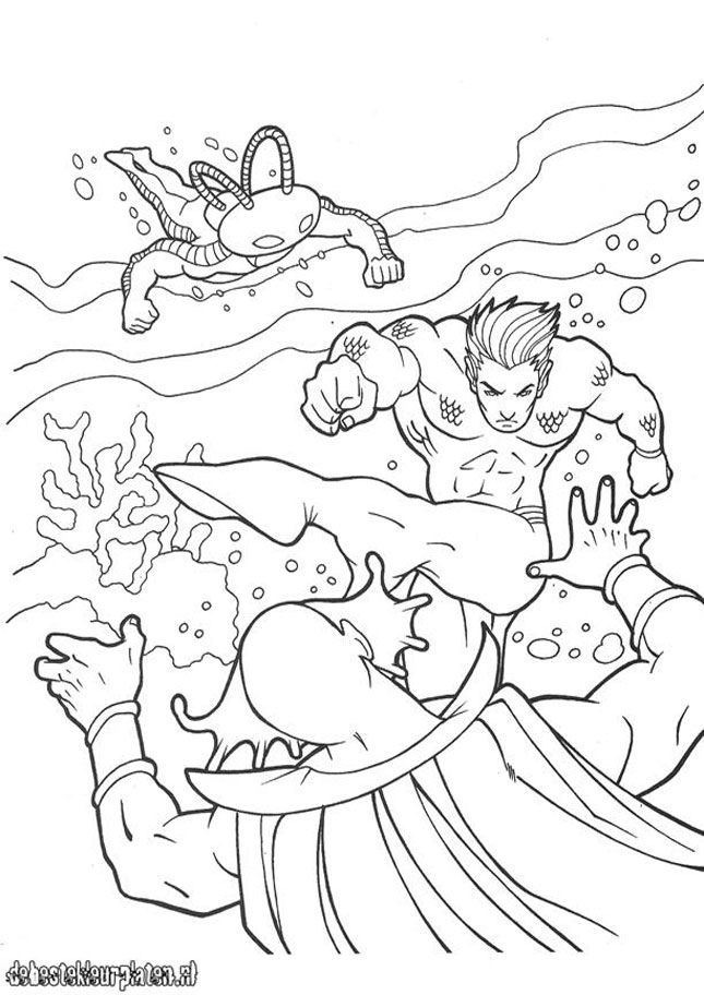 Aquaman 11 Printable Coloring Pages