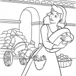 Cinderella coloringpages -