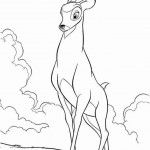 Bambi coloringpages -