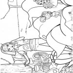 Barbie Thumbelina coloringpages -