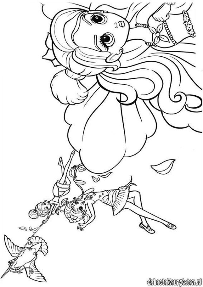 Barbie Thumbelina 18 Printable Coloring Pages