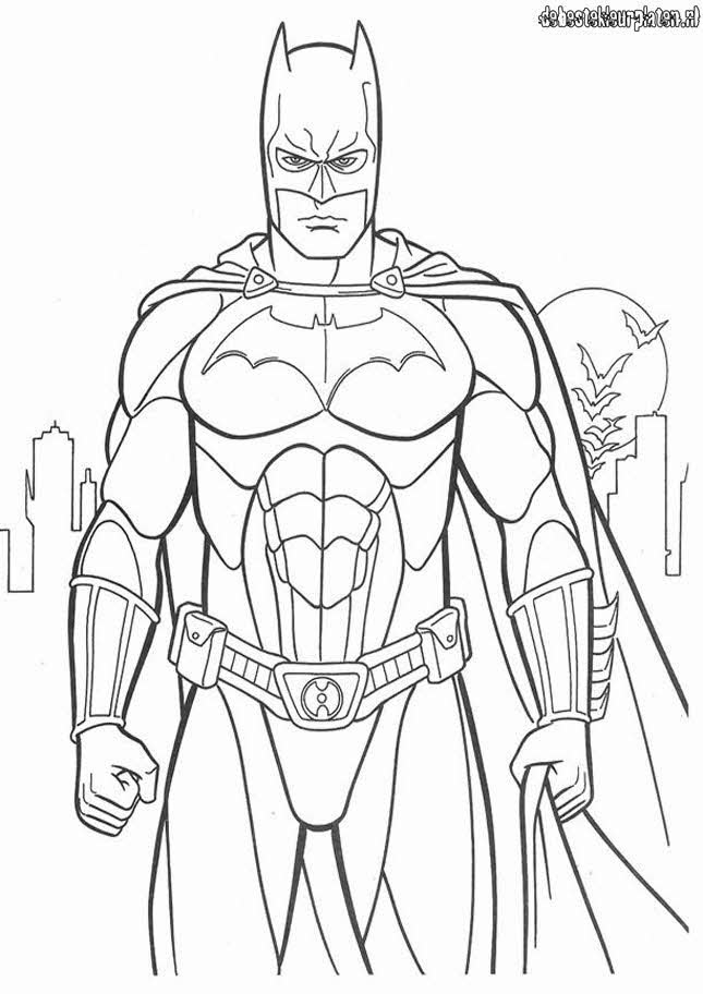 Full Size Printable Coloring Pages Of Batman Full Best
