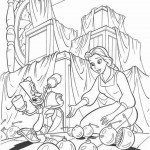 Beauty and the Beast coloringpages -