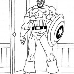 Captain America coloringpages -
