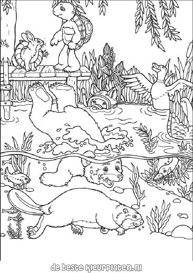 FranklinTheTurtle010 Printable coloring pages