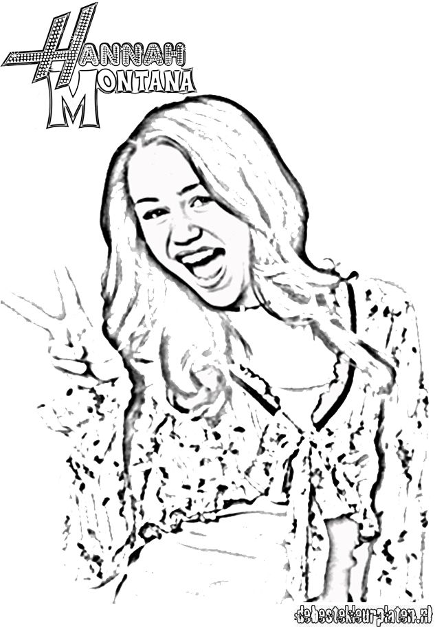 Hannah montana1 printable coloring pages for Hannah montana coloring pages free to print
