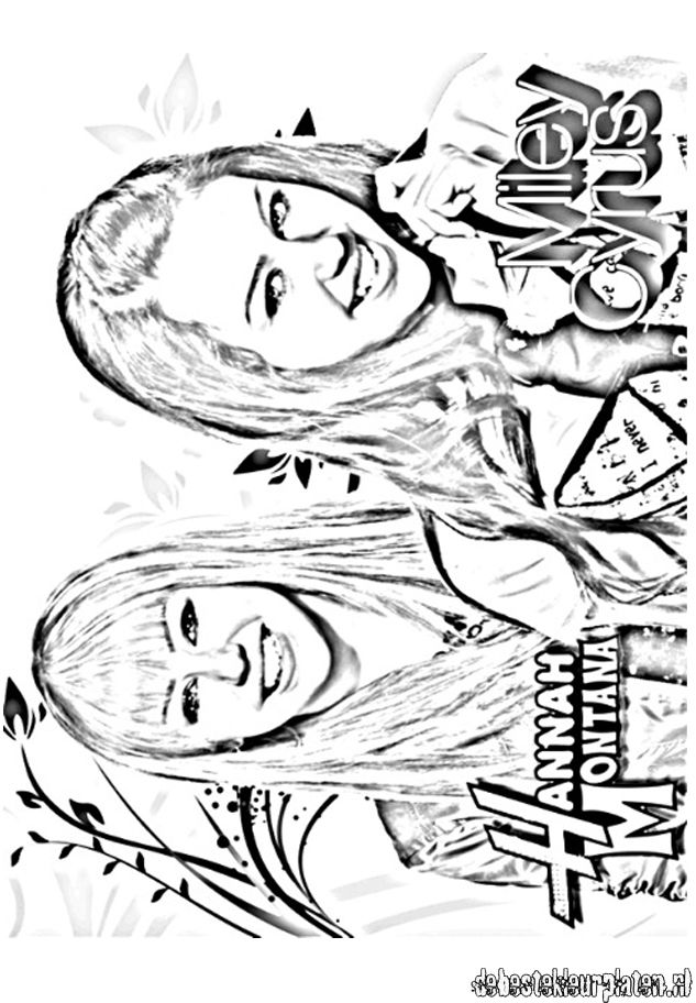 HannahMontana10 Printable coloring pages