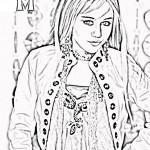 Hannah Montana coloringpages -