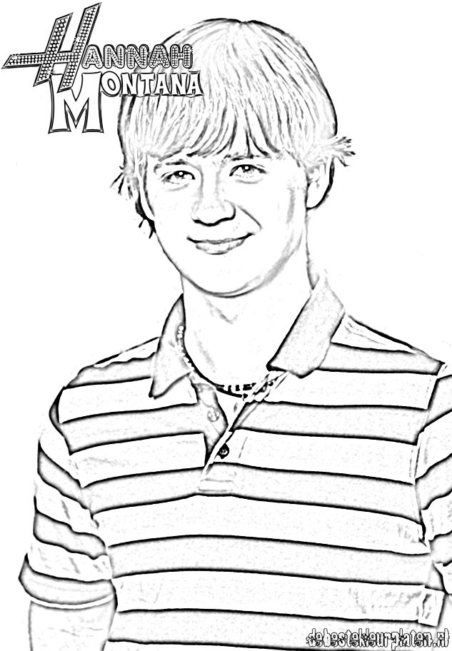 hannah montana halloween coloring pages-#30
