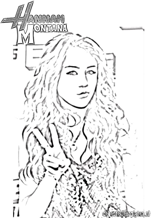 hannah montana halloween coloring pages-#23