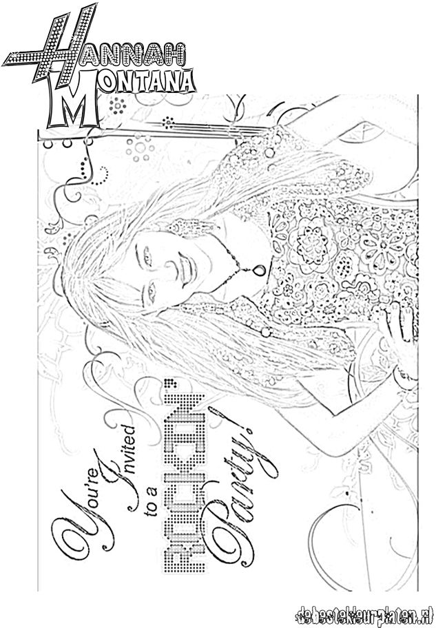 HannahMontana6 Printable coloring pages