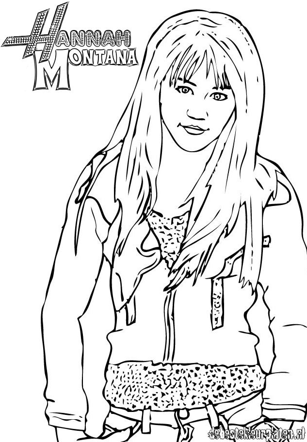 HannahMontana8 Printable coloring pages