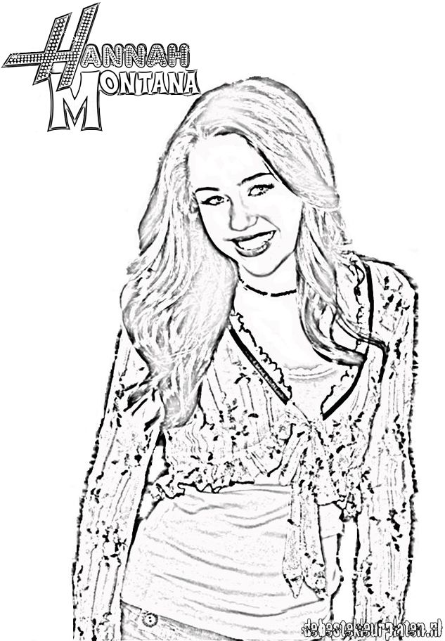 Hannah Montana Miley Cyrus 14 coloring page | 912x633