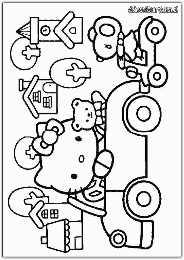 Hello-Kitty-2 - Printable coloring pages