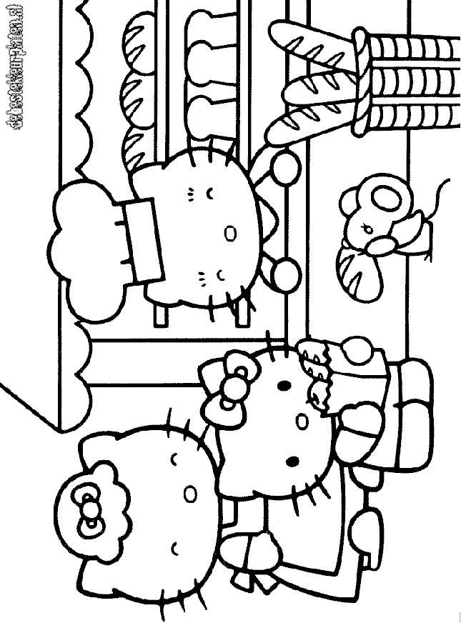 Free Thanksgiving Hello Kitty Coloring Pages