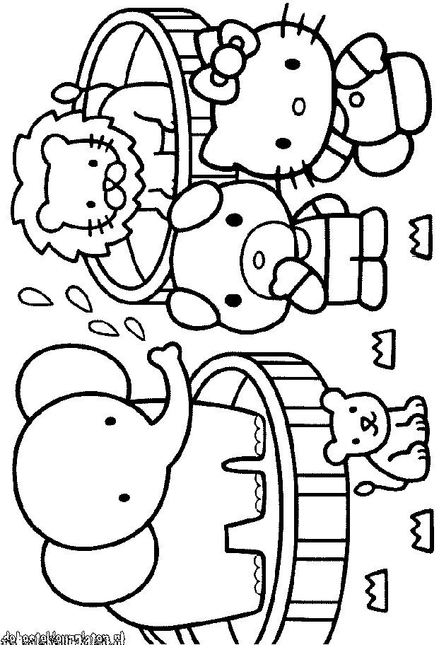 Hello_Kitty-5 - Printable coloring pages