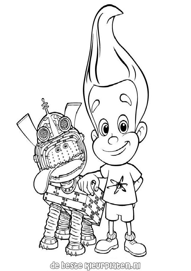 Jimmyneutron004 Printable Coloring Pages
