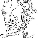 Jimmy Neutron coloringpages -