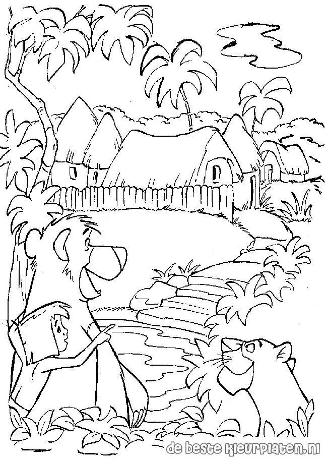 Junglebook012 Printable coloring pages