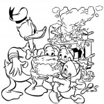 Huey, Dewey, and Louie coloringpages -