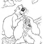 Lady and the Tramp coloring pages 9