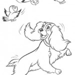 Lady and the Tramp coloring pages 8