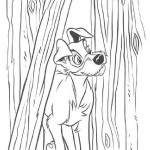 Lady and the Tramp coloring pages 4