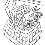 Lady and the Tramp coloring pages 1
