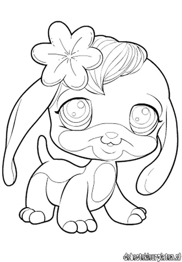 The gallery for coloring pages of littlest pet shop dogs for Ugglys pet shop coloring pages