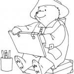 Paddington Bear coloringpages -