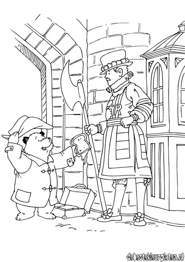 free coloring pages paddington bear movie | Paddington23 - Printable coloring pages