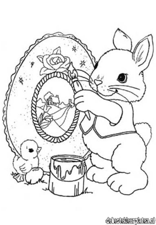 Barbie Easter Coloring Pages : Pasen printable coloring pages