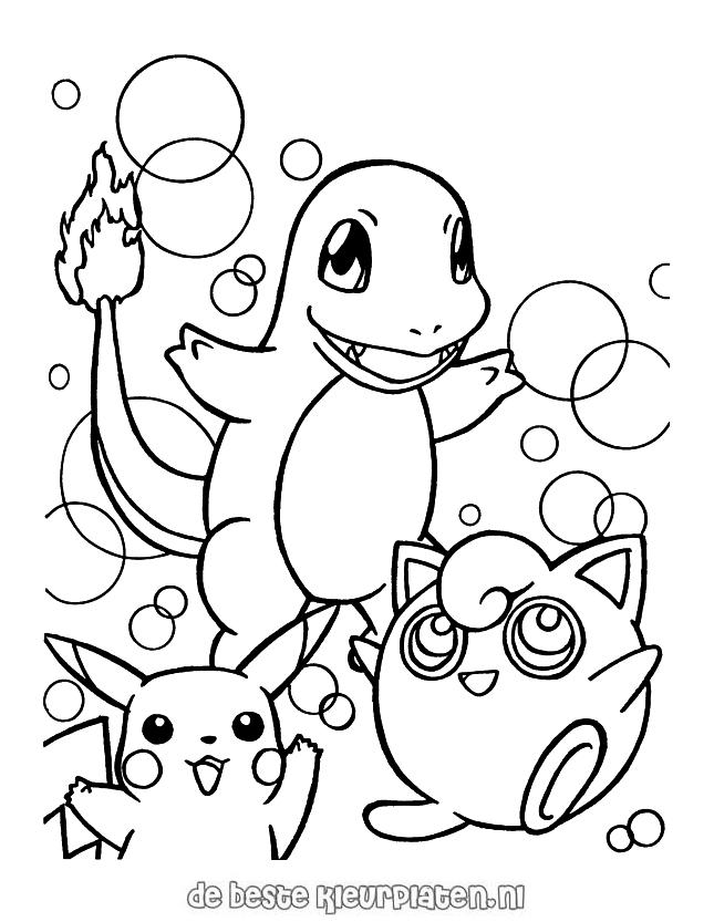 Oma Duck Kleurplaat Pokemon0009 Printable Coloring Pages