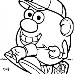 Mr. Potatohead coloring pages 14