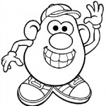 Mr. Potatohead coloring pages 1