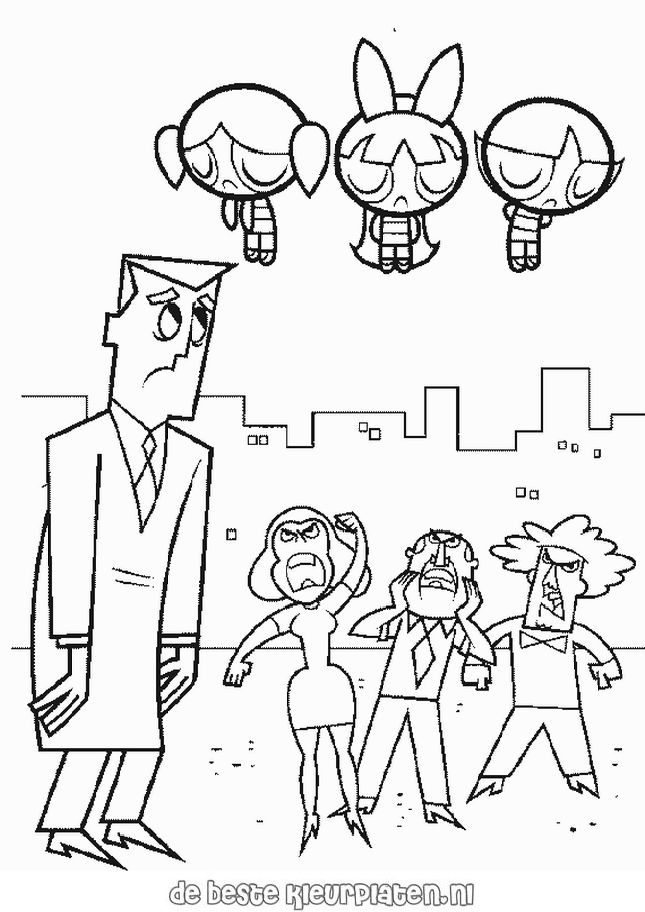 PowerPuffGirls023 Printable coloring pages