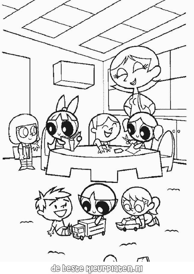 PowerPuffGirls027 Printable coloring pages