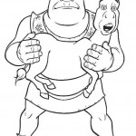 Shrek coloringpages - Shrek2