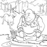 Shrek coloringpages - Shrek3