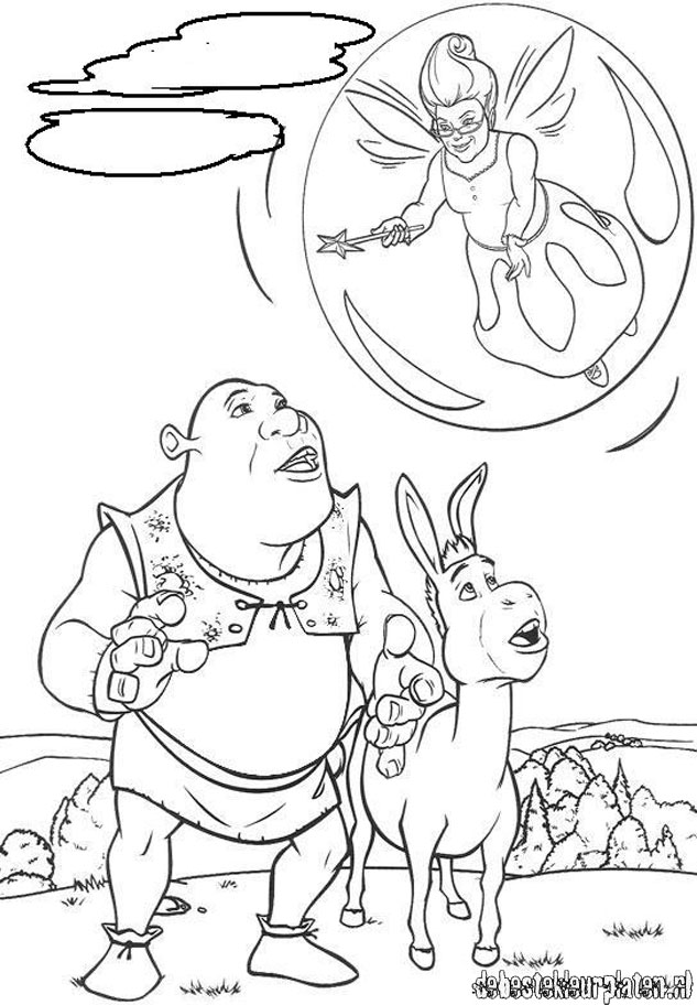 Shrek4 printable coloring pages for Shrek 4 coloring pages