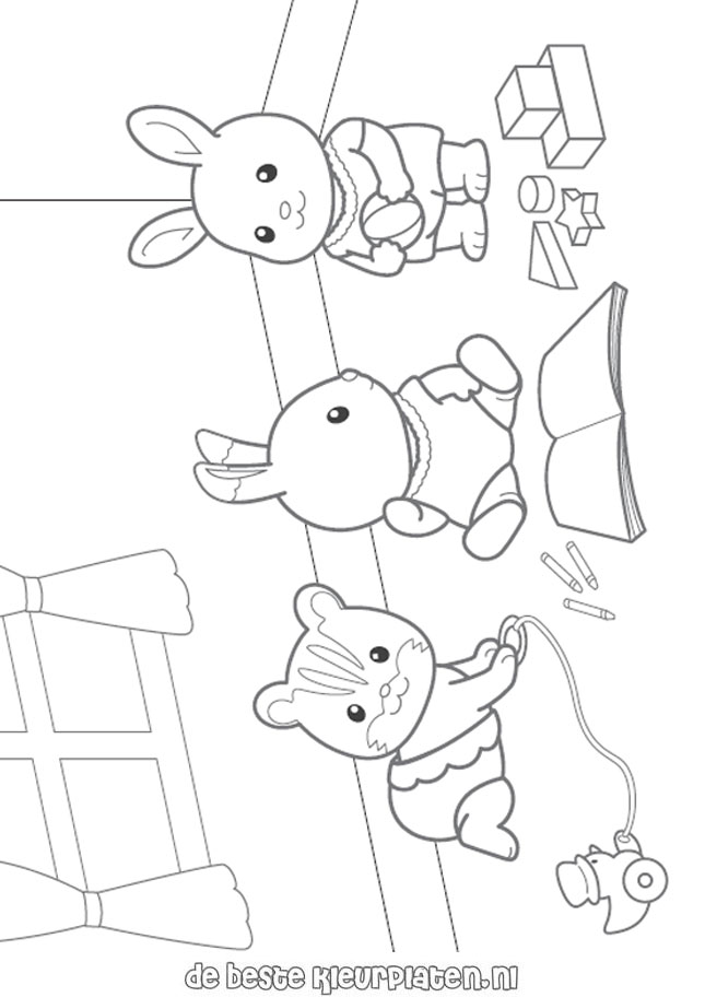 SylvanianFamilies001 Printable coloring pages