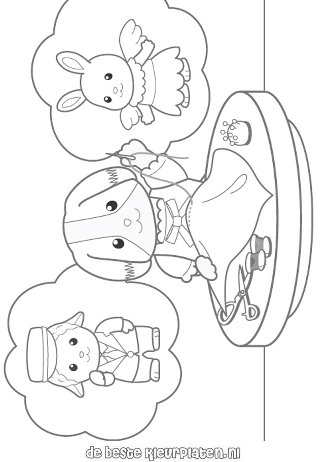 SylvanianFamilies002 Printable coloring pages