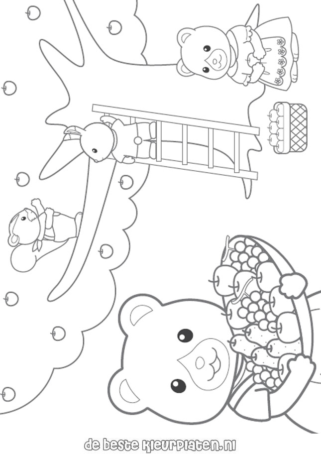 SylvanianFamilies003 Printable coloring pages