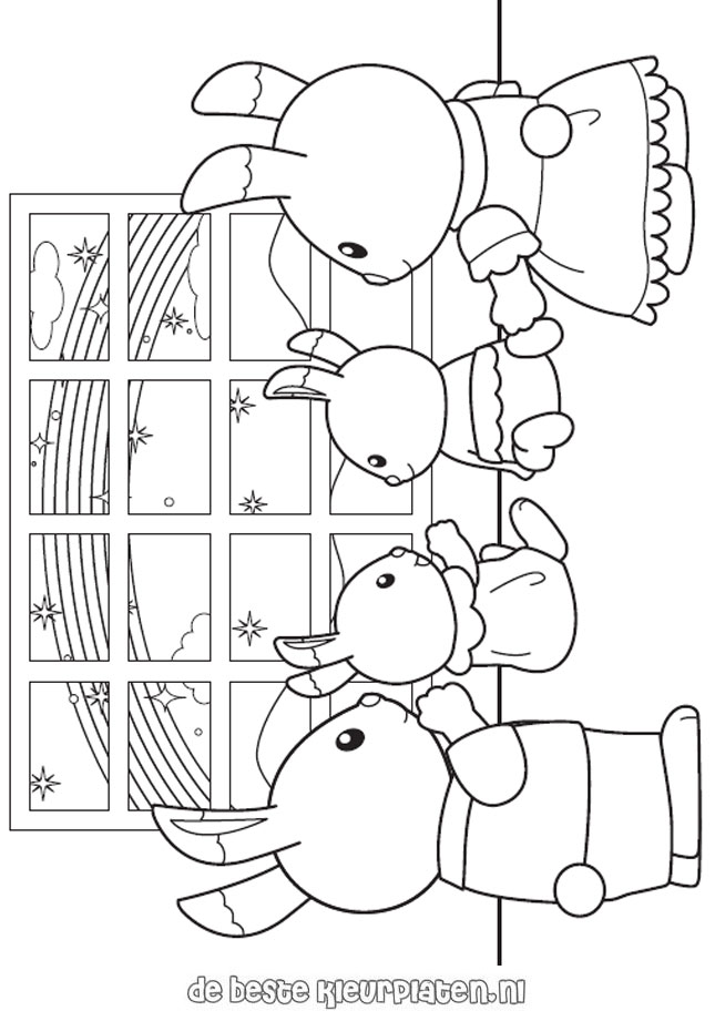 SylvanianFamilies004 Printable coloring pages