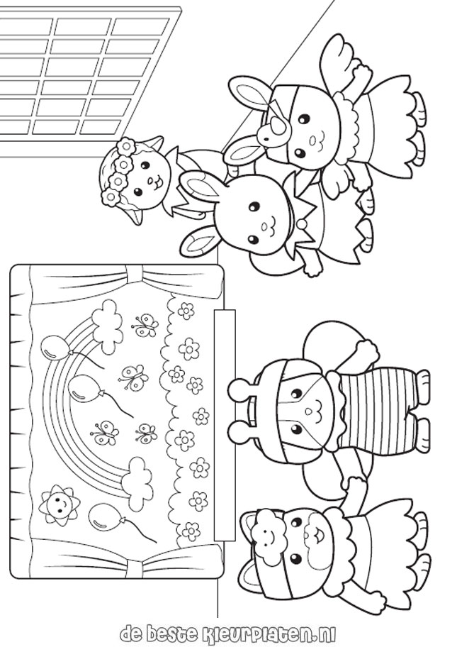 Sylvanian Families005 Printable Coloring Pages Calico Critters Coloring Pages
