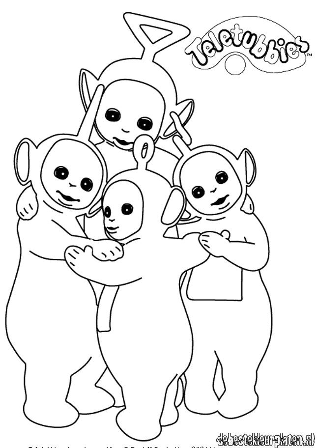 Teletubbies11 Printable Coloring Pages