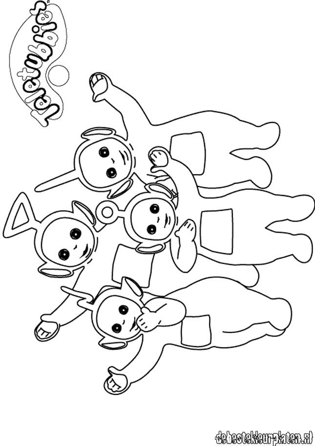 Teletubbies16 Printable coloring