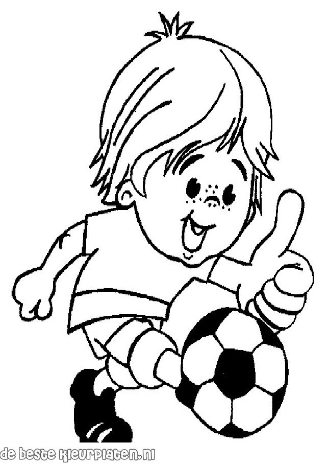 voetbal003  printable coloring pages