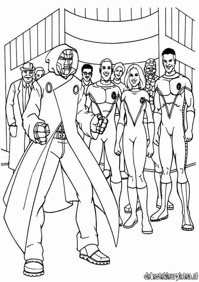 Fantastic four6 printable coloring pages for Fantastic four coloring pages